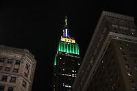 NOVA YORK, EUA, 07.09.2019 - DIA-INDEPENDENCIA - O Empire State Building é visto iluminado com as cores da bandeira brasileira em homenagem ao dia da Independencia do Brasil na cidade de Nova York nos Estados Unidos neste sábado, 07. (Foto: William Volcov/Brazil Photo Press)