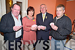 GAA President Christy Cooney pictured with Donal Cronin, Kathleen Ryan and Tom Moriarty at the 31 card drive in Darby O'Gills, Killarney  on Friday night.