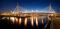 Zakim bridge panorama night, boston,MA (Christian Menn = engineer)