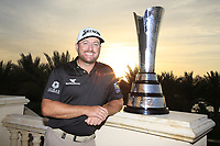 Graeme McDowell (NIR) with the winners trophy after the final round of  the Saudi International powered by Softbank Investment Advisers, Royal Greens G&CC, King Abdullah Economic City,  Saudi Arabia. 02/02/2020<br /> Picture: Golffile | Fran Caffrey<br /> <br /> <br /> All photo usage must carry mandatory copyright credit (© Golffile | Fran Caffrey)