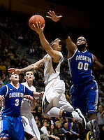 Justin Cobbs of California shoots the ball during the game against Creighton at Haas Pavilion in Berkeley, California on December 15th, 2012.   Creighton defeated California, 74-64.