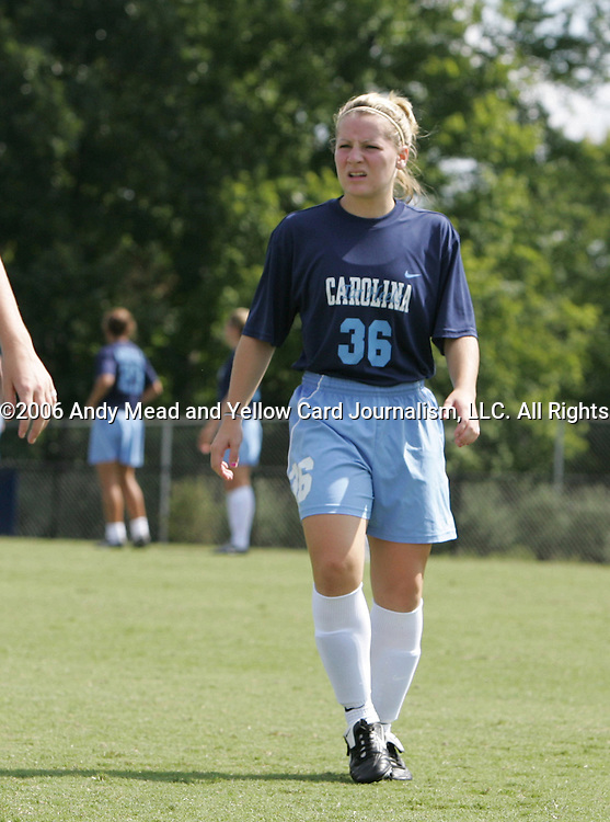 North Carolina's Ashley Moore on Sunday September 17th, 2006 at Koskinen Stadium on the campus of the Duke University in Durham, North Carolina. The University of North Carolina Tarheels defeated the University of Florida Gators 1-0 in an NCAA Division I Women's Soccer game.