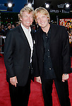 "Producer Nigel Lythgoe and son Simon Lythgoe arrive at the Los Angeles Premiere Of ""Tropic Thunder"" at the Mann's Village Theater on August 11, 2008 in Los Angeles, California."