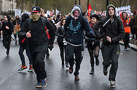 Student protest, London 21-11-12. Students march through London over cuts to education.