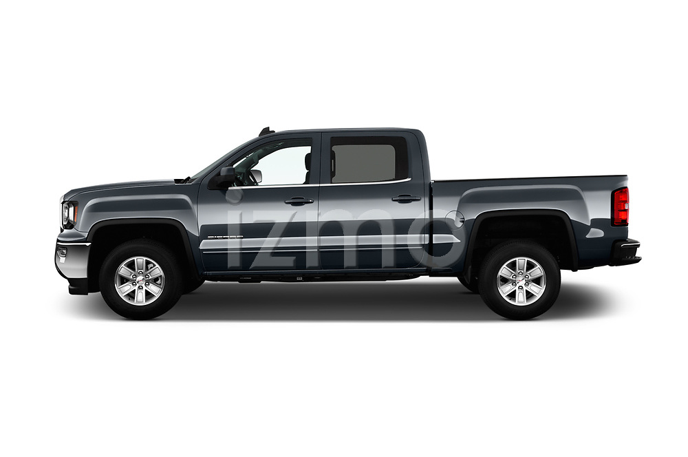 Car Driver side profile view of a 2017 GMC Sierra-1500 Crew-SLE 4 Door Pickup Side View