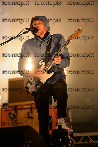 TWIN ATLANTIC - vocalist Sam McTrusty - performing live on the In New Music We Trust Stage on Day Two at the BBC RADIO ONE BIG WEEKEND on Glasgow Green in Glasgow Scotland UK - 24 May 2014.  Photo credit: George Chin/IconicPix