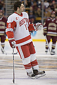 Dan Spang - The Boston University Terriers defeated the Boston College Eagles 2-1 in overtime in the March 18, 2006 Hockey East Final at the TD Banknorth Garden in Boston, MA.