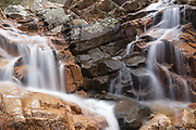Cascade on the South Fork of the Hancock Branch in Lincoln, New Hampshire. This brook is located near the Kancamagus Highway (Route 112) in the White Mountains.
