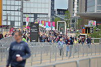 West Ham Fans arrive during West Ham United vs Everton, Premier League Football at The London Stadium on 13th May 2018