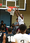 WATERBURY ,  CT-101219JS31-  A player from St. Pat's of New Jersey, slams in two points as they played Windsor during the second annual Stop the Violence Basketball Tournament held Saturday at the North End Rec Center in Waterbury. The tournament was started by former Sacred Heart High School basketball star Mustapha Heron. <br />  Jim Shannon Republican-American