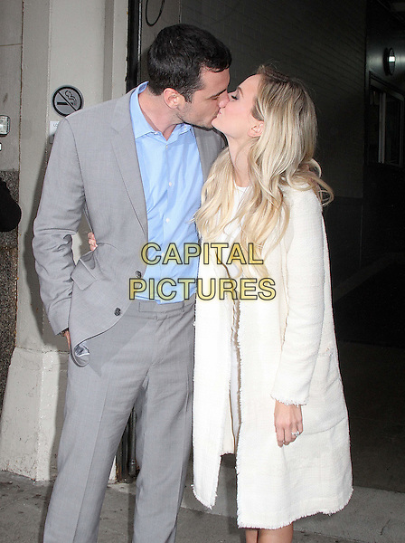 NEW YORK, NY - MARCH 15: 'The Bachelor' stars Ben Higgins and fiancee Lauren Bushnell spotted leaving 'AOL Build' in New York, New York on March 15, 2016.  <br /> CAP/MPI/RMP<br /> &copy;RMP/MPI/Capital Pictures