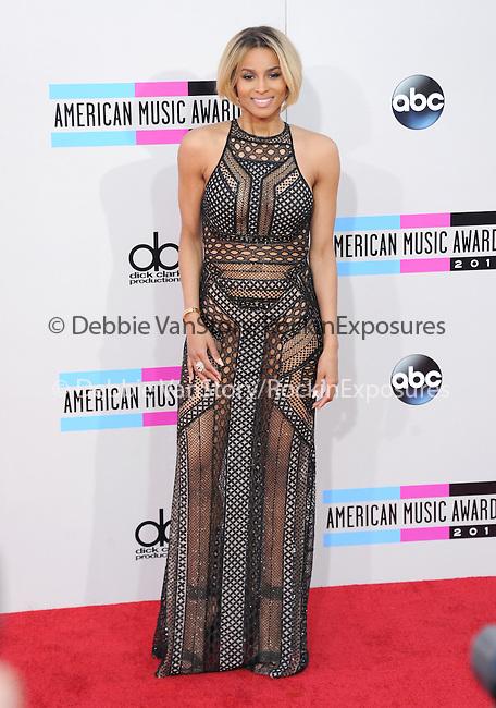 LOS ANGELES, CA - NOVEMBER 24: Ciara arrives at   The 2013 American Music Awards held at Nokia Live in Los Angeles, California on November 24,2013                                                                               © 2013 Hollywood Press Agency