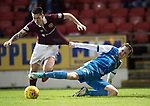 St Johnstone v Hearts&hellip;23.12.17&hellip;  McDiarmid Park&hellip;  SPFL<br />Jamie Walker is fouled by Blair Alston<br />Picture by Graeme Hart. <br />Copyright Perthshire Picture Agency<br />Tel: 01738 623350  Mobile: 07990 594431