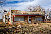 The former Queenan's Trading Post was built in 1948 and became a famous stop on Route 66 in Elk City Oklahoma.