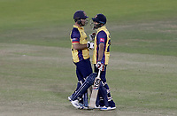 Ryan ten Doeschate of Essex and Ravi Bopara celebrate victory during Lancashire Lightning vs Essex Eagles, Vitality Blast T20 Cricket at the Emirates Riverside on 4th September 2019