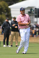Patrick Reed (USA) on the 16th during the First Round - Four Ball of the Presidents Cup 2019, Royal Melbourne Golf Club, Melbourne, Victoria, Australia. 12/12/2019.<br /> Picture Thos Caffrey / Golffile.ie<br /> <br /> All photo usage must carry mandatory copyright credit (© Golffile | Thos Caffrey)