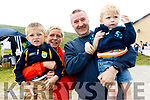 Liz and Johnny Murphy and their children Cillian and Eoin enjoying a family day out at the Top of Coom Shearing