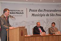 SÃO PAULO-SP,15,09,2014-FERNANDO HADDAD - POSSE PROCURADORES DO MUNICÍPIO -Marcos das Costa _Presidente da OAB-SP/ O Prefeito de São Paulo,Fernando Haddad durante a solenidade de posse dos Procuradores  do Municipio.Na Prefeitura de São Paulo,região central da cidade,no fim da manhã de Segunda -Feira,15(Foto:Kevin David/Brazil Photo Press)