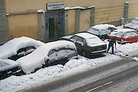 - Milan under the snow....- Milano sotto la neve