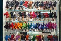 Window of a glove merchant in Brussels, Belgium.