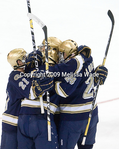- The University of Notre Dame Fighting Irish defeated the Boston University Terriers 3-0 on Tuesday, October 20, 2009, at Agganis Arena in Boston, Massachusetts.