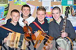 MUSICIANS: Caherciveen was qwell represented at the Ceol an Gheimhridh Final at the North Campus IT< Tralee on Saturday, L-r: Bryan Sugrue, Cathal O'Donovan, Mark Sugrue and Noel O'Sullivan..................... ..........