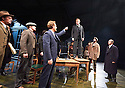 An Enemy of The People by Henrik Ibsen, a new version by Christopher Hampton directed by Howard Davies. With Hugh Bonneville as Dr Tomas Stockmann[standing on table]. Opens at Chichester Festival Theatre on 4/5/16 CREDIT Geraint Lewis