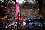 The remains of a former SafeGround homeless tent camp that was flooded out in Sacramento, Calif., January 15, 2011.