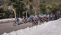 Tim Declercq (BEL/Quick-Step Floors) leading the peloton<br /> <br /> 76th Paris-Nice 2018<br /> stage 6: Sisteron &gt; Vence (198km)