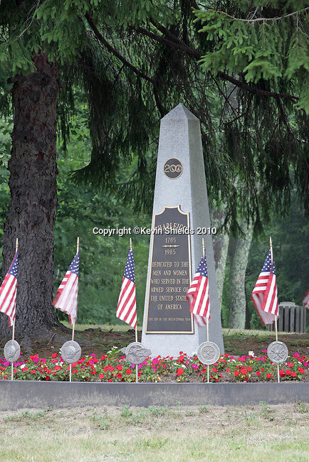 Veteran's Memorial in Shapleigh, Maine, USA