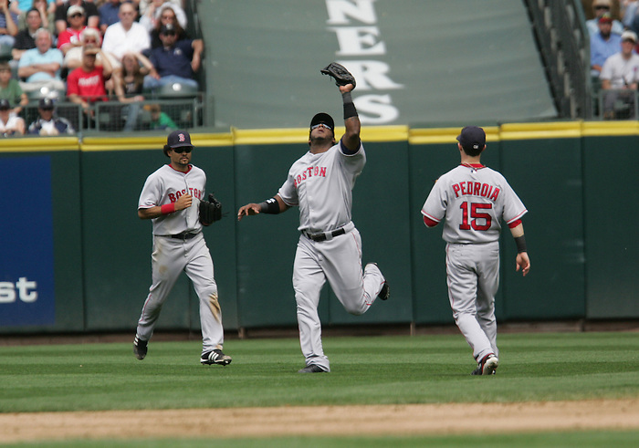 27 June 2007: #22 Wily Mo Pena makes the out Seattle Mariners vs Boston Red Sox at Safeco Park in Seattle, Washington.