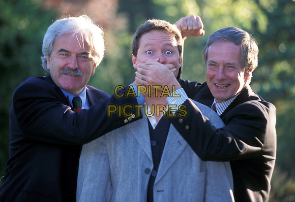 DESMOND LYNHAM, RORY BREMNER, BARRY NORMAN.funny picture .Ref: 682.www.capitalpictures.com.sales@capitalpictures.com.©Capital Pictures