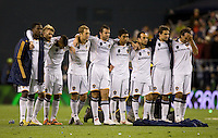 The LA Galaxy appear dejected as they watch the final seconds of penalty kicks. .Real Salt Lake defeated the LA Galaxy 5-4 on penalty kicks to win the 2009 MLS Cup Championships in Seattle, WA, Sunday, Nov. 22, 2009.