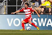 28 AUGUST 2010: FC Dallas' Heath Pearce (4) during MLS soccer game between FC Dallas vs Columbus Crew at Crew Stadium in Columbus, Ohio on August 28, 2010.