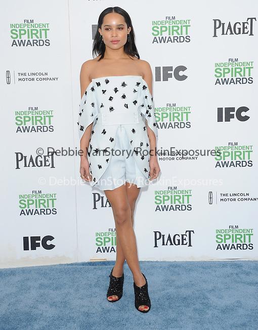Zoë Kravitz attends The 2014 Film Independent Spirit Awards held at Santa Monica Beach in Santa Monica, California on March 01,2014                                                                               © 2014 Hollywood Press Agency