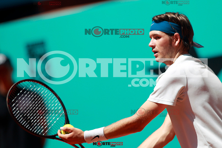 Jared Donaldson, USA, during Madrid Open Tennis 2018 match. May 8, 2018.(ALTERPHOTOS/Acero) /NortePhoto.com