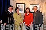 Art:  Pictured at the official opening of Maurice Hannons exhibition ' Here Come the Girls' at St Johns Art Centre, Listowel, on Friday night are l-r: Joe Dillon, Eleanor Cronin, Mary Dillon & Riobard Pierce, Listowel