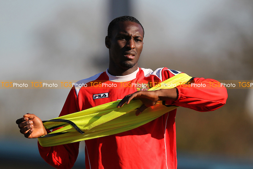 Bira Dembele of Stevenage - Stevenage vs Newport County - Sky Bet League Two Football at the Lamex Stadium, Broadhall Way, Stevenage - 07/03/15 - MANDATORY CREDIT: Gavin Ellis/TGSPHOTO - Self billing applies where appropriate - contact@tgsphoto.co.uk - NO UNPAID USE