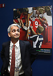 27 August 2006: Sunil Gulati, president of the U.S. Soccer Federation and president of Kraft Soccer during the opening of a new exhibit commemorating the first ten years of Major League Soccer. The President's Reception and Dinner were held at the National Soccer Hall of Fame in Oneonta, New York the evening before the 2006 Induction Ceremony.