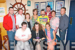 Lorraine Carey, Fenit (seated centre) pictured at her 40th birthday celebration in the Boat Club house, Fenit last Saturday night, also seated is Michael Gill (lt) and Rosie Carey (rt). Back l-r: Damian McGibney, Paul O'Dowd, Theresa O'Donnell with Noelle, John, Rory, Ann and Simon McGibney.