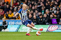 7th March 2020; Molineux Stadium, Wolverhampton, West Midlands, England; English Premier League, Wolverhampton Wanderers versus Brighton and Hove Albion; Aaron Mooy of Brighton & Hove Albion controls the ball