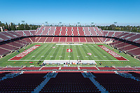 Stanford, Ca. - The Stanford Cardinal Football team vs the San Diego State Aztecs in Stanford Stadium. The final score Stanford 31, San Diego State 10.