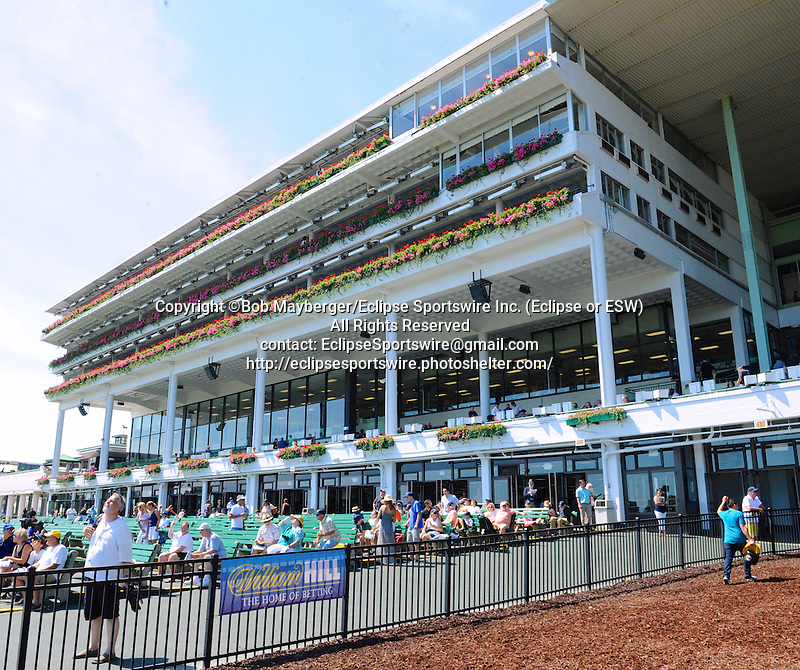 Scenes from around the track on Haskell Invitational Stakes Day on August 2, 2015 at Monmouth Park in Oceanport, New Jersey. (Bob Mayberger/Eclipse Sportswire)