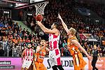 05.01.2020, ratiopharm arena, Neu-Ulm, GER, BBL, ratiopharm ulm vs Telekom Baskets Bonn, <br /> im Bild Bojan Subotic (Bonn, #7) mit Korbleger, Gavin Schilling (Ulm, #34) und Seth Hinrichs (Ulm, #21) kommen zu spaet<br />   <br /> Foto © nordphoto / Hafner