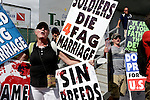 Members of the Westboro Baptist Church protest the anti-GOP protestors during the 2012 Republican National Convention in Tampa, Fla. on Aug. 28, 2012. Photo by Greg Kahn