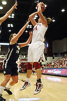 STANFORD, CA - NOVEMBER 1:  Kayla Pedersen of the Stanford Cardinal during Stanford's 107-49 win over Vanguard on November 8, 2009 at Maples Pavilion in Stanford, California.