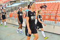 Houston, TX - Sunday Oct. 09, 2016: Abby Erceg prior to a National Women's Soccer League (NWSL) Championship match between the Washington Spirit and the Western New York Flash at BBVA Compass Stadium.