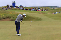 Bernd Wiesberger (AUT) plays his 2nd shot on the 15th hole during Saturday's Round 3 of the Dubai Duty Free Irish Open 2019, held at Lahinch Golf Club, Lahinch, Ireland. 6th July 2019.<br /> Picture: Eoin Clarke | Golffile<br /> <br /> <br /> All photos usage must carry mandatory copyright credit (© Golffile | Eoin Clarke)