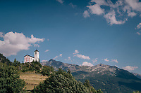 Polka dot church up Le Rosière<br /> <br /> Stage 11: Albertville > La Rosière / Espace San Bernardo (108km)<br /> <br /> 105th Tour de France 2018<br /> ©kramon