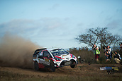 5th October 2017, Costa Daurada, Salou, Spain; FIA World Rally Championship, RallyRACC Catalunya, Spanish Rally; Jari Matti LATVALA - Miikka ANTTILLA of Toyota Gazoo Racing WRT jumps in the shakedown